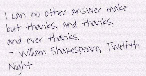 shakespearethanks
