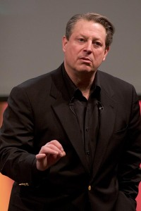 Al Gore giving his global warming talk in Mountain View, CA on 7