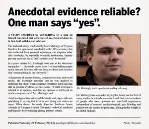 anecdotal